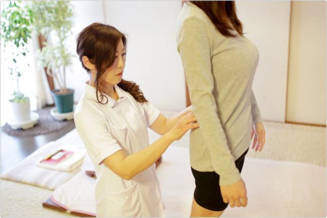 ⑤腰・骨盤の歪みを確認